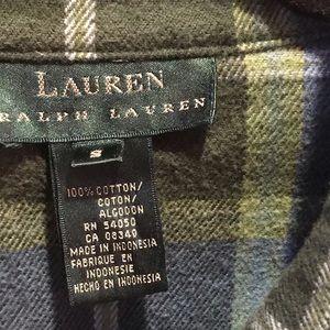 Plaid Ralph Lauren button down shirt